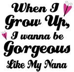 Gorgeous Like My Nana kids t-shirts
