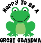Hoppy to be a Great Grandma Gifts and T-shirts