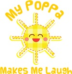 My Poppa Makes Me Laugh Kids Apparel