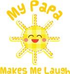My Papa Makes Me Laugh Kids Apparel