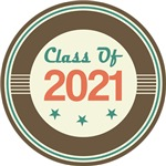 Vintage Class of 2021 School T-shirts