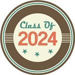 Vintage Class of 2024 School T-shirts