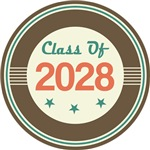 Vintage Class of 2028 School T-shirts