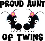Proud Aunt Of Twins t-shirts