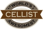 Cellist (World's Awesomest) Tshirt Gifts