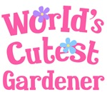 Worlds Cutest Gardener Gifts and Tshirts