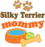 Silky Terrier Mom T-shirts and Gifts
