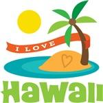 I Love Hawaii T-shirts