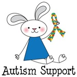 Autism Support T Shirts (bunny)