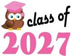Class of 2027 Graduation Tee Shirts (owl)