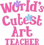 Worlds Cutest Art Teacher Tshirts