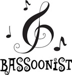 Bassoonist Music Logo Gifts