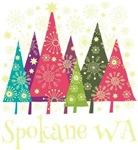 Spokane Washington Holiday Tshirts