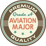 Aviation Major vintage college look te