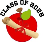 Class Of 2028 apple diploma