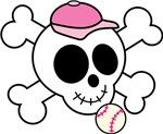 Cute Girls Baseball Skull tee shirts