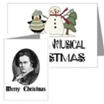 MUSIC CHRISTMAS GREETING CARDS