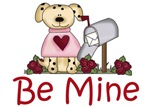 Valentine Dog With Be Mine Greeting Gifts