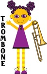 Trombone Cartoon Kids T-shirts