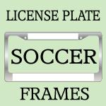 Soccer License Plate Frames