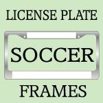 Soccer License Plate Frames