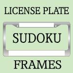 SUDOKU LICENSE PLATE FRAMES