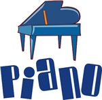 Funky Piano In Blue T-shirts And Gifts