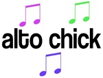 Alto Chick Music T-shirts