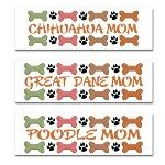 DOG MOM BREED BUMPER STICKERS