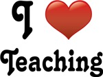 Big Red Heart I Love Teaching T-shirts