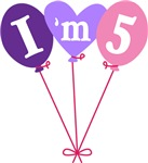 Cute 5th Birthday Balloons Kids T-shirts