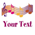 Personalized Colorful Music Gifts T Shirts