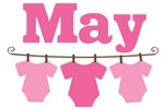 Cute May Pink Baby Clothes Announceme