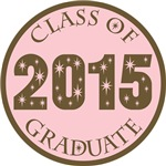 Pink Stars Class Of 2015 T-shirt Gifts