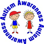 Autism Awareness Stick Figure T-shirts