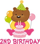 2nd Birthday Teddy Bear T-shirts And Gifts