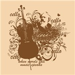 Artsy Cello Music Speaks Gifts and Apparel