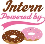 Intern Powered By Doughnuts Gift T-shirts