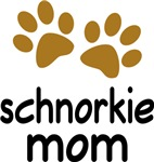 Cute Schnorkie Mom T-shirts and Gifts