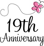 19th Anniversary Pink Butterfly Keepsake Gifts