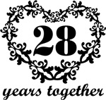 28th Anniversary Heart Gifts Together