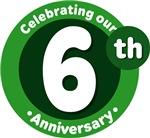 6th Anniversary Green Gift T-shirts