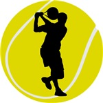Cool Tennis Player Silhouette Gifts and Tees