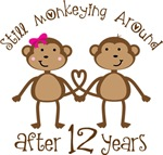 12th Anniversary Funny Monkey Gifts