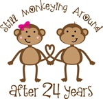 24th Anniversary Funny Monkey Gifts