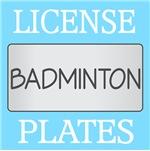BADMINTON LICENSE PLATE FRAMES