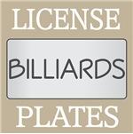 BILLIARDS LICENSE PLATE FRAMES