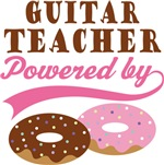Guitar Teacher Powered By Doughnuts Gift T-shirts