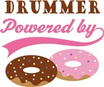 DRUMMER POWERED BY DONUTS T-shirts