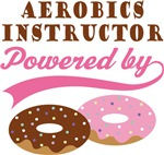 Aerobics Instructor Powered By Doughnuts Gifts